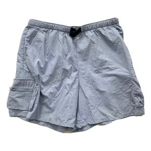 Columbia Blue Cargo Hiking Shorts Above Knee